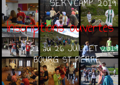 Inscriptions Serv'Camp 2019