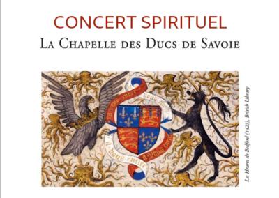 Concert spirituel – Chapelle des Ducs de Savoie